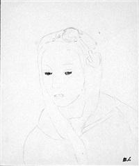 visage au foulard by marie laurencin