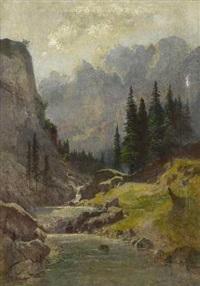 gebirgsbach by ludwig correggio