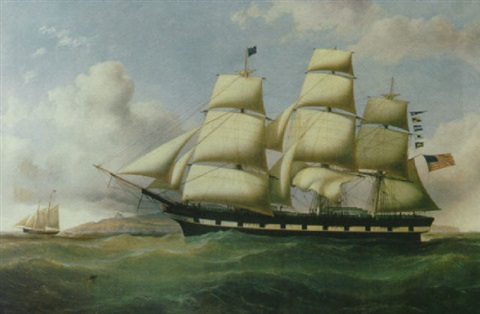 the american ship clara wheeler and the pilot schooner the duke off point lyras by duncan mcfarlane