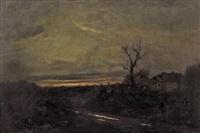 paesaggio all'imbrunire by pietro senno