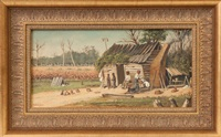 cabin with share croppers by william aiken walker