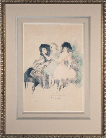 emilie charlotte la gloire des bronte promenade les trois soeurs woman with horses 5 works by marie laurencin