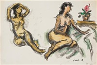 double nude portrait by chang wan-chuan