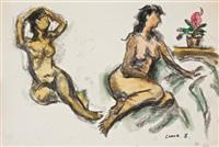double nude portrait by chang wan-chuan