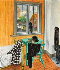 gult interiør (yellow interior) by knud agger
