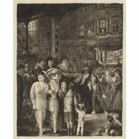 the street by george wesley bellows