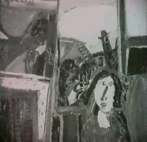 paysage a la silhouette de femme by godfried vervisch
