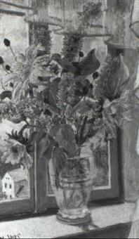 blumen am fenster by jaroslav jares