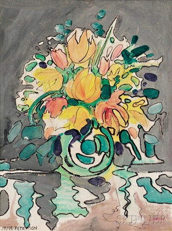 abstract floral still life by jane peterson