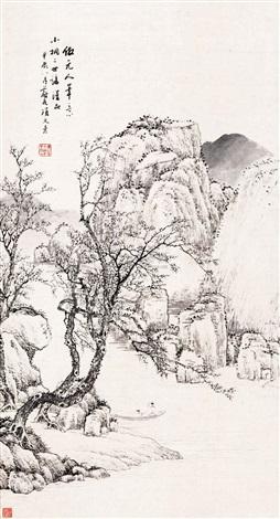 仿元人笔意 by xiang wenyan