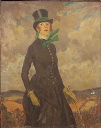 leonie in costume riding habit by edward barnard lintott