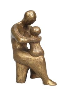 mother with child by arnold hilmer