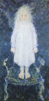 katrien (meisje op stoel) by fons roggeman