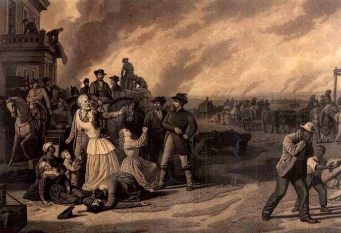 martial law - order no. 11 ( by john sartain) by george caleb bingham