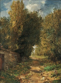 a country lane by william morris hunt