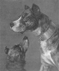 dogge mit kleinem hund by gustave quentell