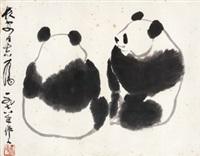 熊猫 镜心 纸本 by wu zuoren