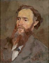portrait eines bärtigen herren by oskar hagemann