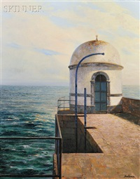 oceanside fort with tower by enrique romero santana