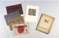 halewijn, metamorphosen, achnaton, gilgamesj and h. van kruiningen (5 portfolios of 48 total works) by harry van kruiningen