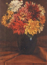 astern in vase by karl grutschnig