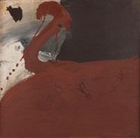 pintura, collage y óxido rojo