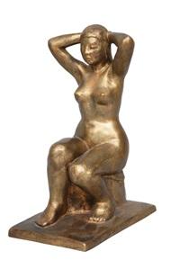sitting female nude by arnold hilmer