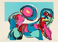 four compositions by karel appel