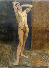 male nude, standing full-length by jean puy