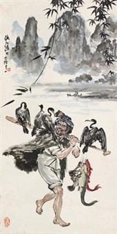 人物 立轴 设色纸本 by liu yuyi