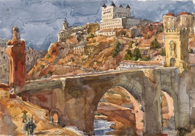 view of toledo by anna petrovna ostroumova lebedeva