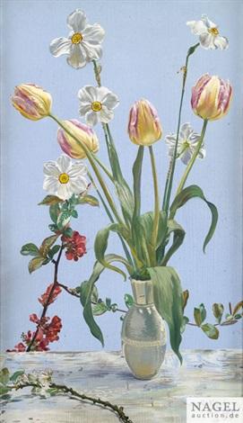 Frühlingsstrauß frühlingsstrauß in einer vase by reinhold nägele the younger on artnet