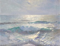 study of light on the sea by julius olsson