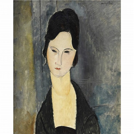 femme aux yeux noirs by amedeo modigliani