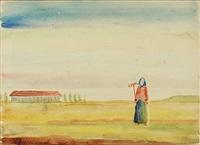 kvinna i landskap by pavel ivanovich basmanov