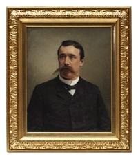 porträtt av herre i mustasch by otto bache
