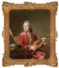 bildnis eines herrn mit violine by guillaume voiriot