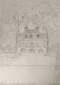 blick auf die orangerie von sanssouci in potsdam (from sketchbook) by fritz bleyl
