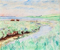 landscape with cows by sigurd swane