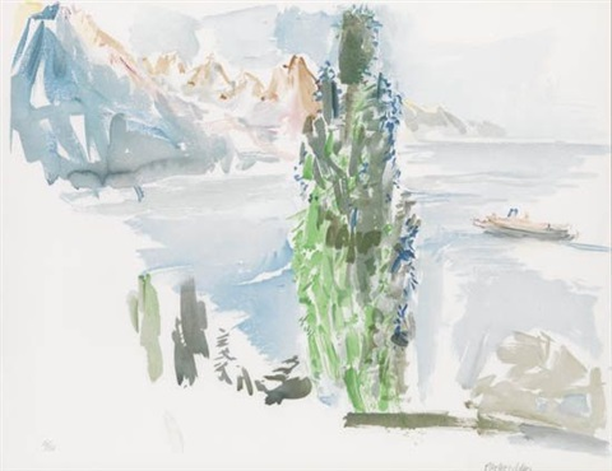 genfer see landschaft by oskar kokoschka