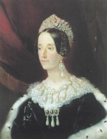 portrait einer hochadeligen dame mit reichem perlschmuck by john hall
