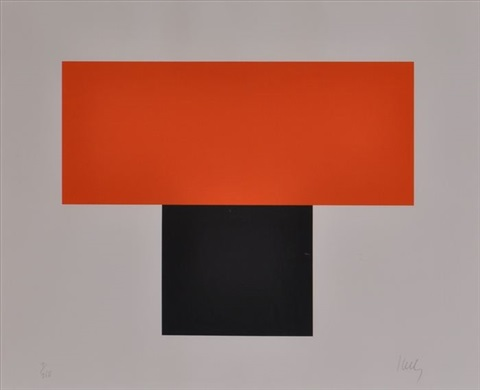 red orange over black by ellsworth kelly