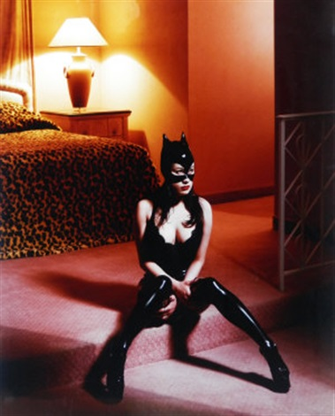 breaunna in cat mask las vegas hilton by albert watson