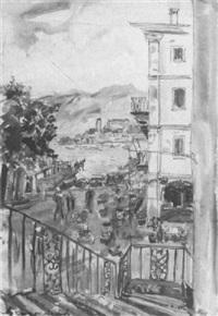 orta st. giulio mit blick auf silberinsel by august lange-brock