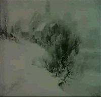 sachsische winterlandschaft by walter kopp