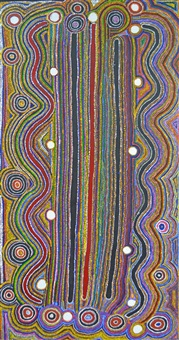 yanyilpirri jukurrpa (milky way dreaming) by tjapaltjarri paddy stewart and japaljarri paddy sims