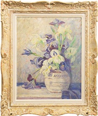 still life with irises by cornelia earle