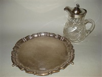 salver (+ jug; 2 works) by joseph rodgers & sons (co.)