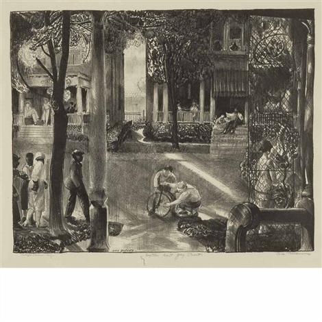 sixteen east gay street by george wesley bellows