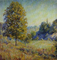 summer landscape, brown county by lucie hartrath